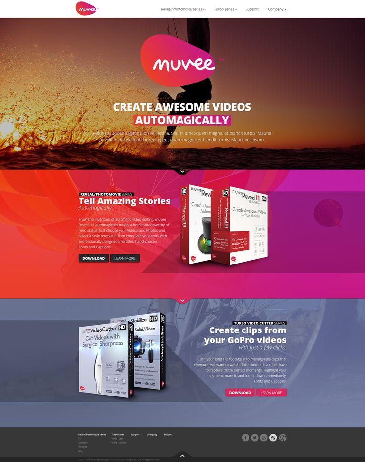 Web design: Muvee - home by VictoryDesign.deviantart.com on @DeviantArt
