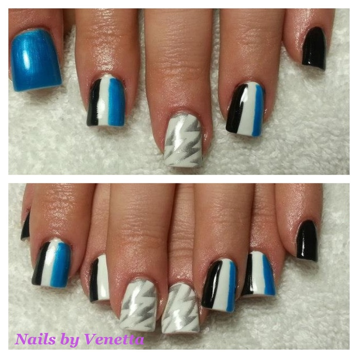 Port Adelaide Power Nails, so cool I them.