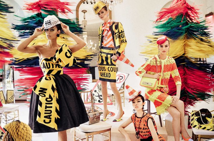 Moschino Does 'Carwash Couture' for Its Spring Campaign. With some Powerpuff Girls and traffic signs thrown in for good measure.