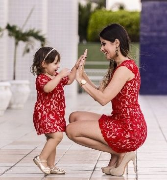 """MOMMY AND ME RED LACE DRESSES PRICE $34.99 OPTIONS: 2T, 3T, 4T, 5, 6, 7 WOMANS S, M, L, XL To purchase: comment """"sold"""", size & email"""