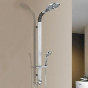 [neu.haus] Colonna doccia moderna (kit completo) Colonna a parete con due soffioni Soffione doccia Doccia a cascata Shower Set 56,50 €