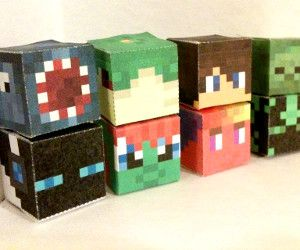 Minecraft Character Heads Papercraft Generator