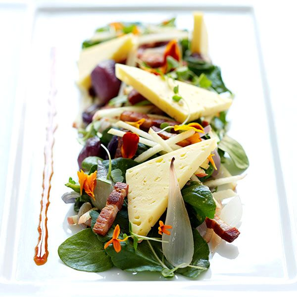 The Local Palate - Stayman Apple Salad with Grayson Cheese and Hickory Smoked Bacon