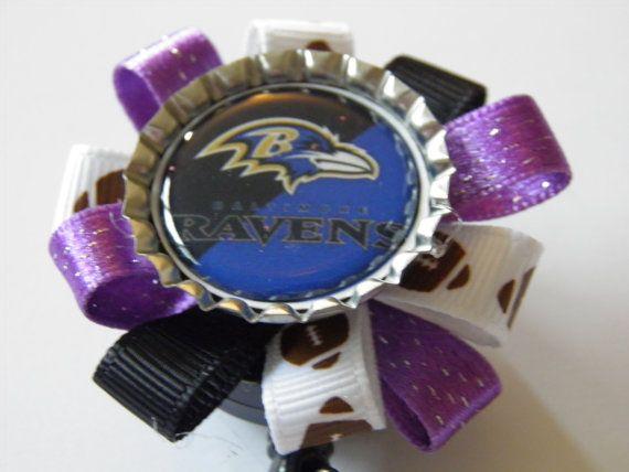 Baltimore Ravens badge holder / Nurse / Travel by YouAndMeBowtique, $5.20