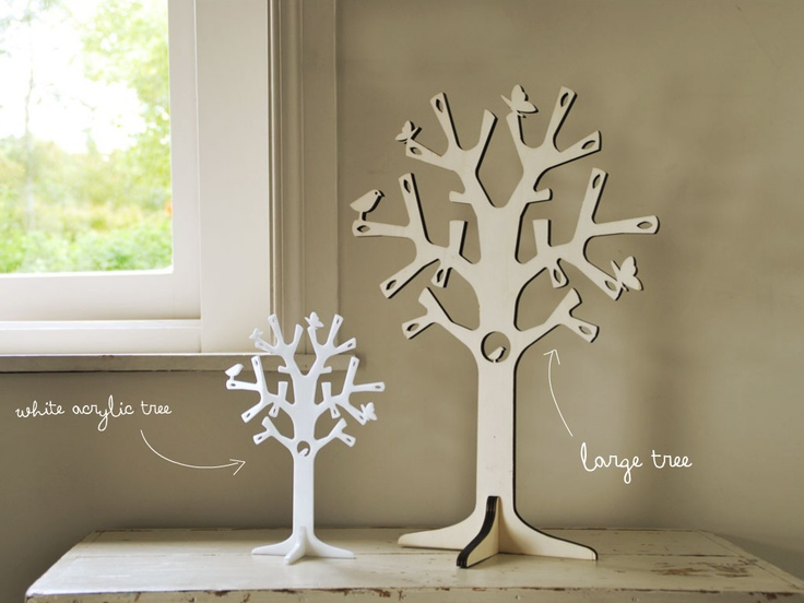 Our white Jewellery Tree and Large Wood