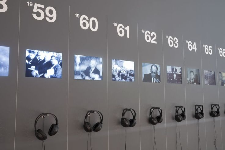 60 Years - 60 Works - screen wall with news from the past
