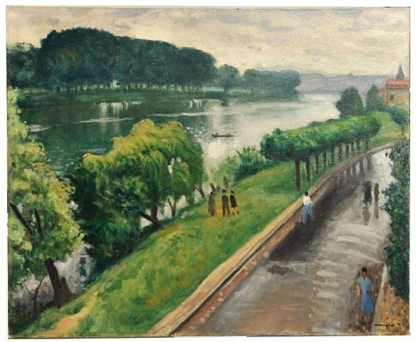 Albert Marquet, Au bord de la Seine, la Frette, 1940