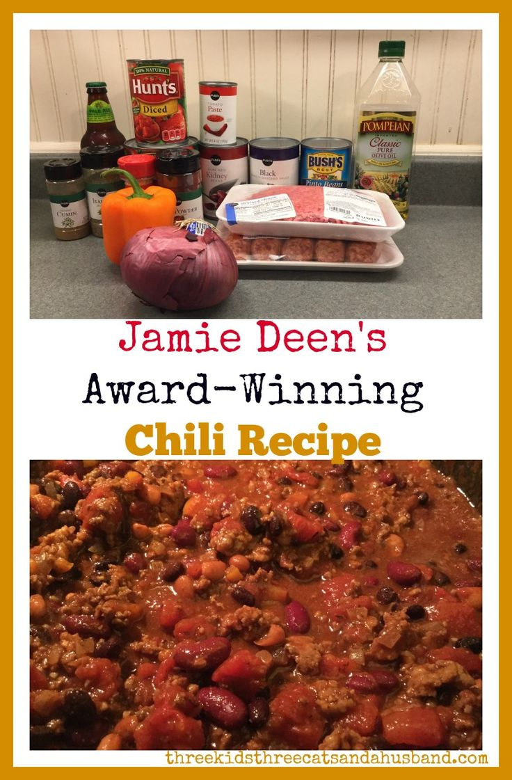 Jamie Deen's Award-Winning Chili Recipe
