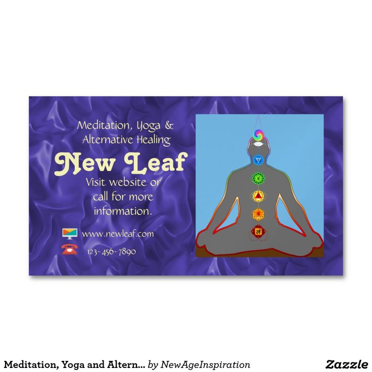 Meditation, Yoga and Alternate Health Magnetic Business Card