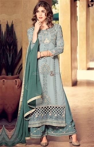 Take Away This Lovely Grey A-Line Style Dress With Sharara Style Pajama. This Designer Suit has ideal Designs of Embroidery, Stone Work, Cutwork & Broad Border. http://www.designersandyou.com/dresses/pakistani-dresses #LongDress #PalazzoPants #PalazzoSuits #PalazzoPaksitaniSuits #WithPants #Simple #Latest #ShalwarKameez #Mehndi #Party #Long #Palazzo #ForGirls #Suits #Dress #PakistaniSuits #PakistaniSuit #PakistaniDress #PakistaniDresses #Designersandyou #Dresses #Suits #Suit #Pakistani…