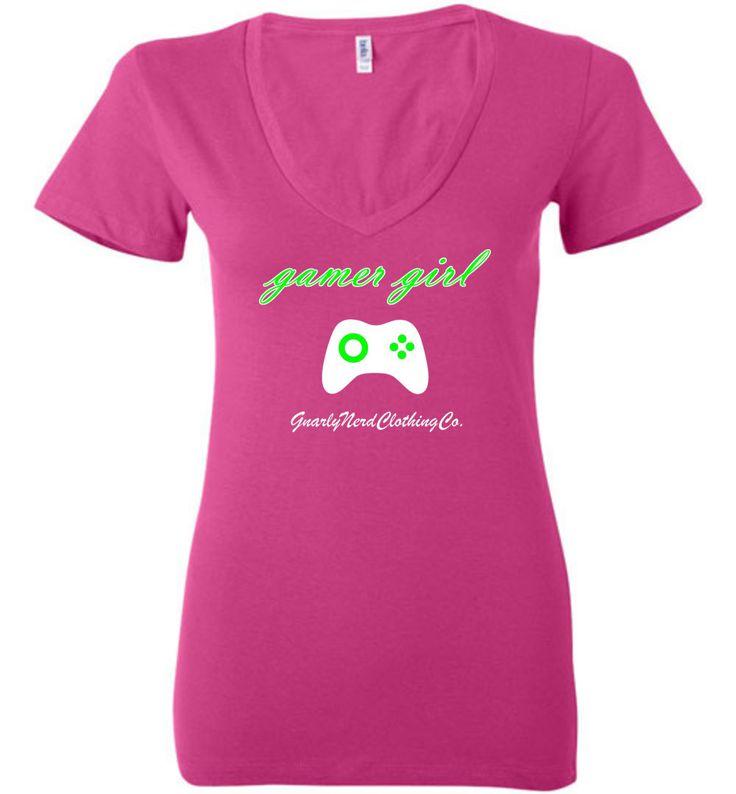 Gamer Girl (green) - Low Cut Ladies