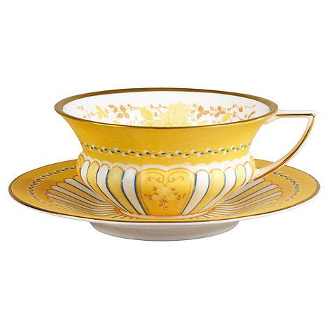 Wedgwood Yellow tea cup saucer- at Debenhams.com