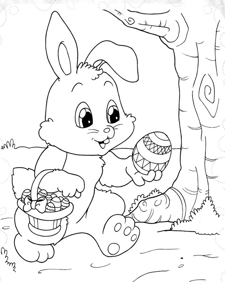 BAÚ DA WEB: Desenhos de Páscoa para colorir, pintar, imprimir! Coelhos de páscoa para pintar!