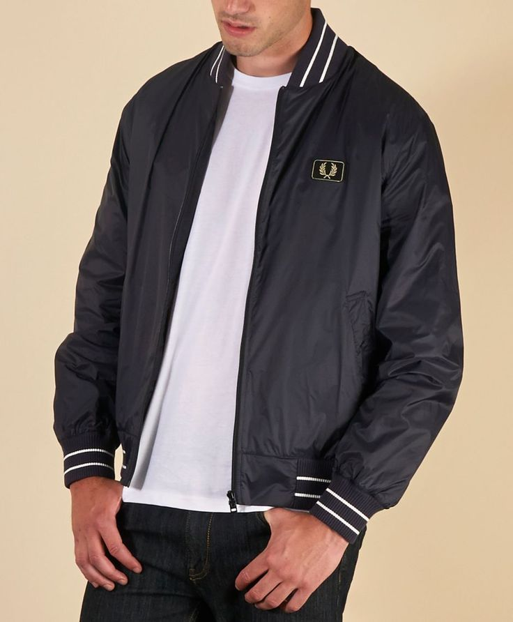 Buy  Fred Perry Tipped Bomber Jacket - Online Designer Store - scotts Menswear