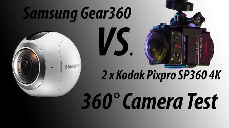 360° Camera Comparison: Samsung Gear 360 VS Kodak SP360 4K - 360° Kamera...