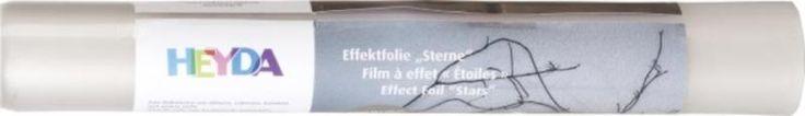 """zzgl versand - siehe auch im shop www.grado-basteln-spielen.deHeyda Effektfolie """"Sterne"""" Sternentraumfolie- transparent mit 3D-Stern-Effekt- Kunststoff-Folie, Stärke 0,15 mm- Rolle, 30 x 100 cm- zum Dekorieren von Gläsern, Fenstern, Laternen und vielem mehr"""
