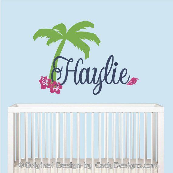 Best 25 beach wall decals ideas on pinterest palm tree for Surf nursery ideas