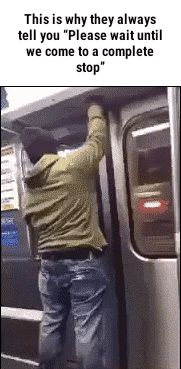 "||PARADOX-GLITCH|| This is why they always tell you ""Plealse wait until we come to a complete stop"" #subway #explosion #parkour #fail #meme"