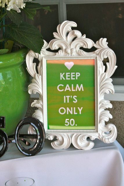 Great 50th Birthday Party Idea!
