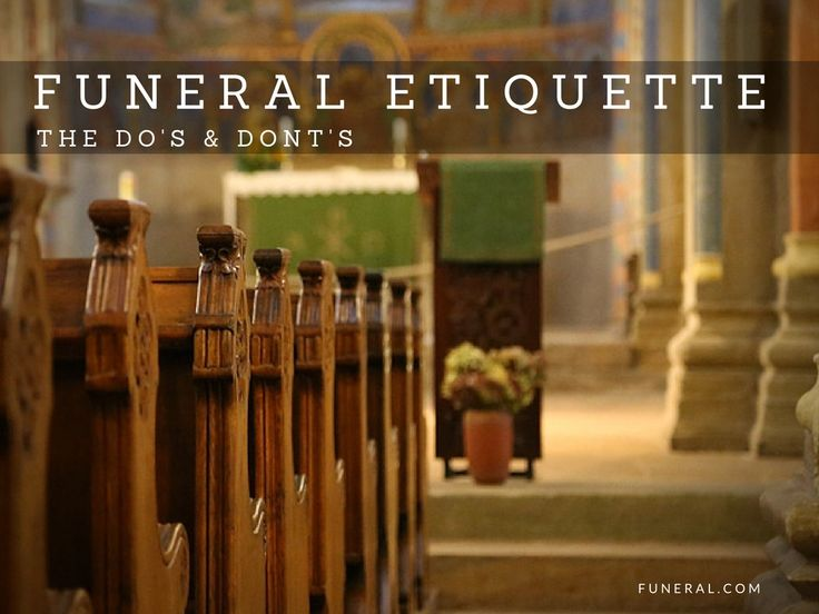 Funeral Etiquette: Do's and Don'ts | Funeral.com