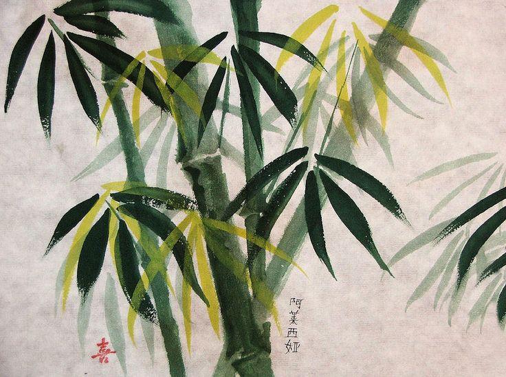 Splendid Bamboo Painting - Splendid Bamboo Fine Art Print