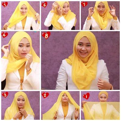 Tutorial Hijab Paris Segi Empat Untuk Sehari-hari/ Hijab ...