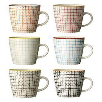 Bloomingville Retro mugs - Perch Home