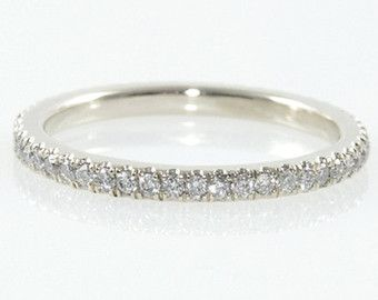 Simulated Diamond Eternity Band set in Sterling by AleaMariCo