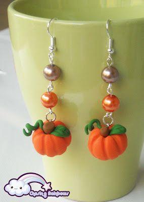 Collezione Halloween Kawaii Special - Orecchini Zuccotti e Zuccottini #kawaii #cute #sweet #handmade #jewels
