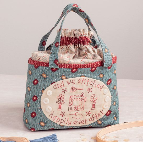 My bag from my book Patchwork Loves Embroidery