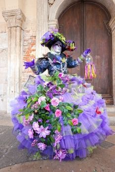 Portrait d'un masque Belle � Venise, Italie. photo                              …