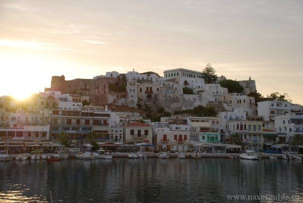 Dawn at Naxos Town