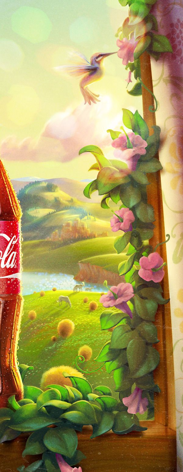 Beautiful Illustrations For Coca-Cola's New Plant-Based Bottle