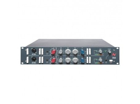 The 1073DPX has two channels of Neve 1073 Class A design microphone preamplifiers, each with 3-band EQ (fixed HF plus two switchable bands with cut/boost capability) and high pass filter.