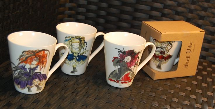 ,, Snill pike ,, mugs by Anna Strøm ,, design of Norway,, http://www.design-of-norway.no/ www.snillpike.no