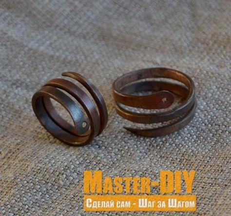 Изготовить Старинное кольцо змея из медной проволоки. Сделать кольца своими руками.