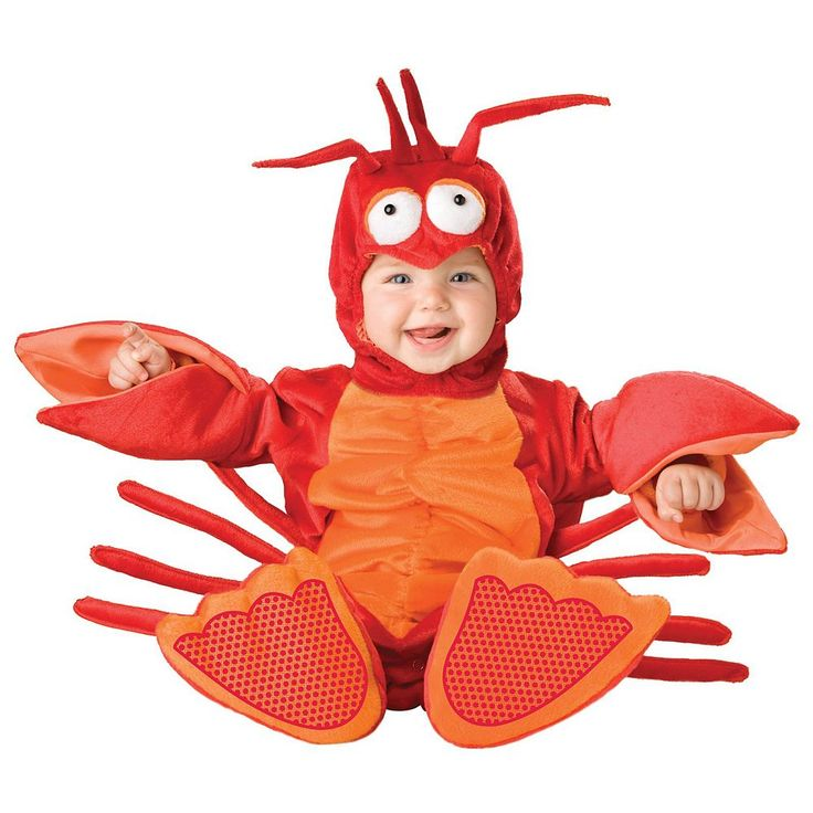 Lil' Lobster Costume - Baby, Infant Unisex, Size: 18-24MONTH, Multicolor