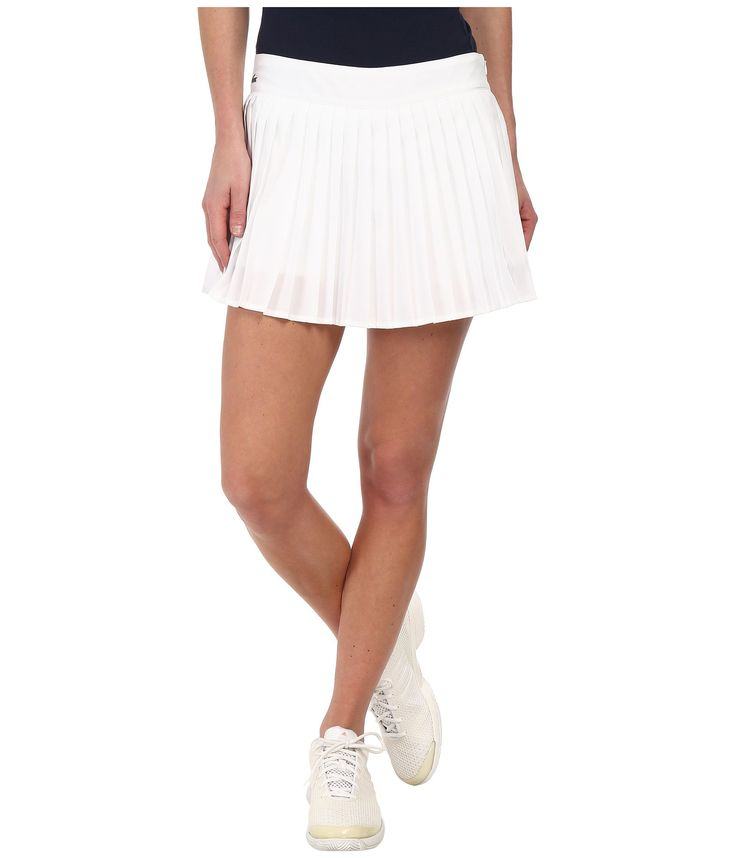 LACOSTE Technical Pleated Tennis Skirt. #lacoste #cloth #