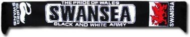 Swansea City Scarf by Swansea City. $12.78. This Swansea City scarf is ideal for all fans of the Swans and comes in the traditional Swansea colours of black & white.