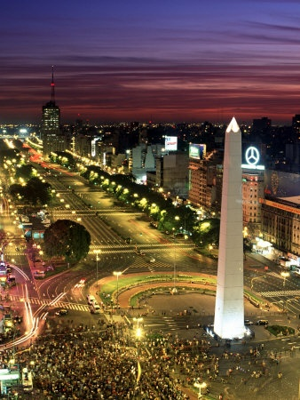 "Buenos Aires (""Paris of South America""), Argentina. Stretches south-to-north along the Rio de la Plata. Its people are known as porteños. Architecture reflects the influence of the Spaniards, French, and Italians in its buildings and in its parks."