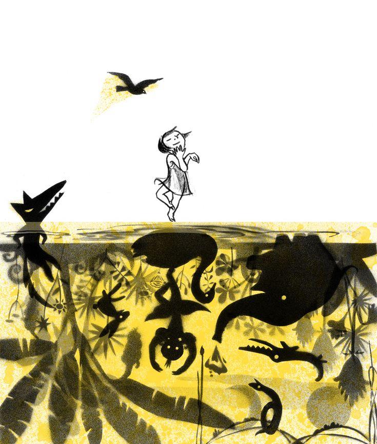 Spread from 'Shadow' by Suzy Lee  SOMBRAS ISBN: 978-84-937506-5-7 Ilustradora: Suzy Lee