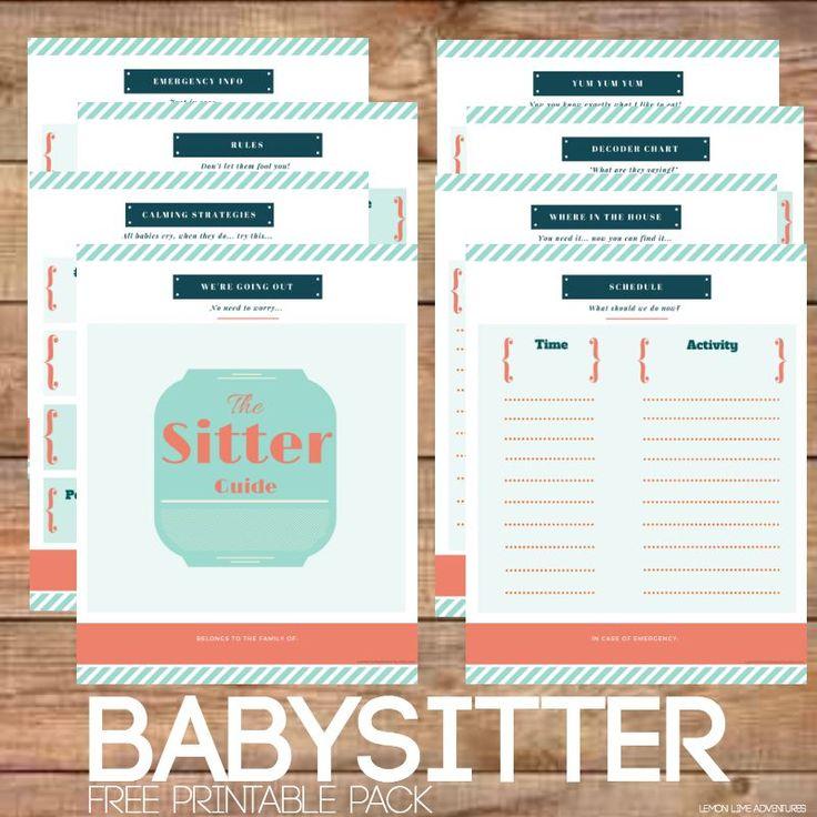 best 25  babysitter printable ideas on pinterest
