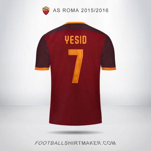 Camiseta AS Roma 2015/2016 Yesid 7