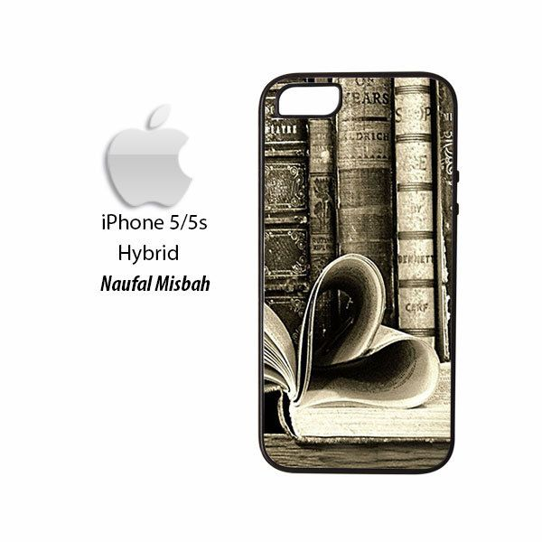 Love Retro Old Books Heart iPhone 5/5s HYBRID Case Cover