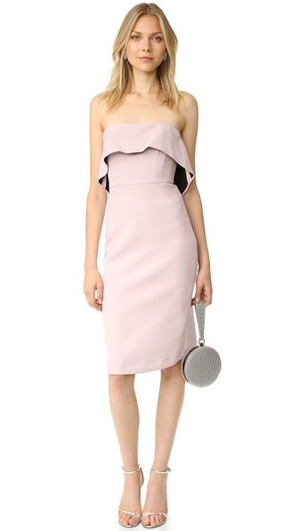 BCBGMAXAZRIA Платье без бретелек с оборками