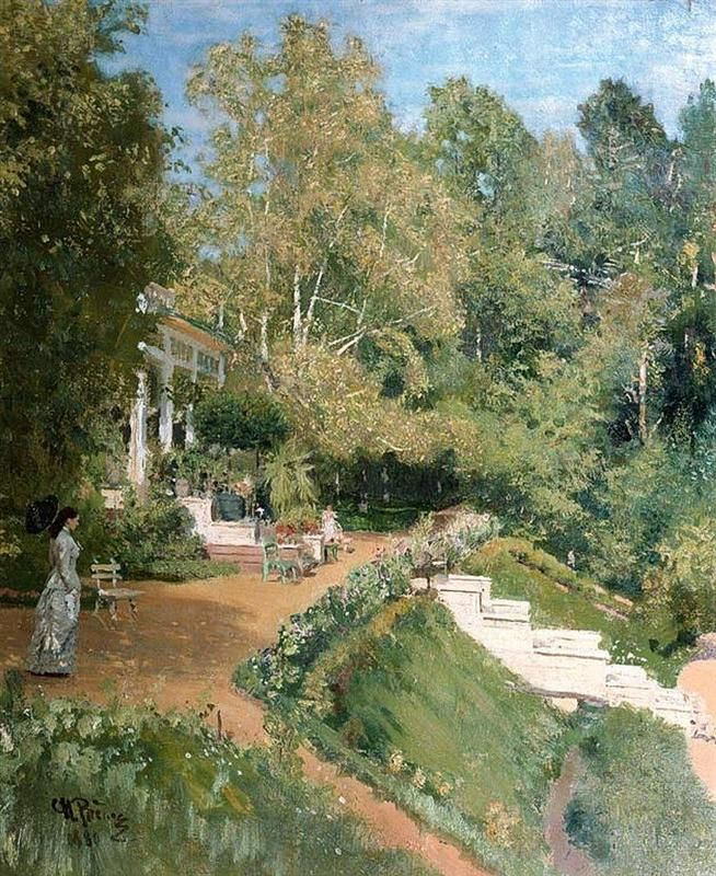 http://www.wikiart.org/en/ilya-repin/summer-day-in-abramtsevo-1880