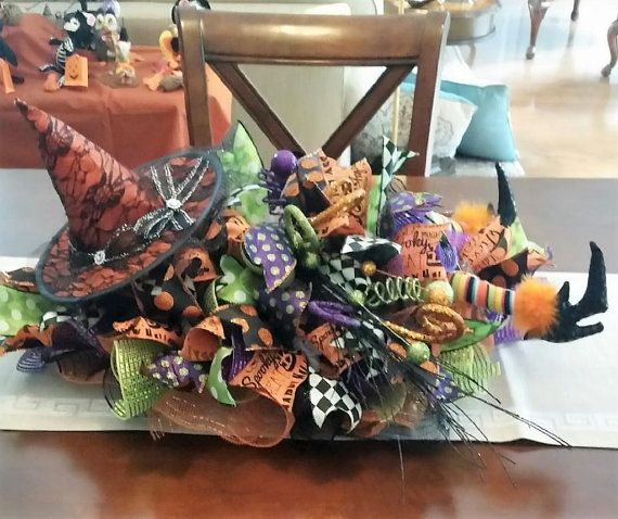 Halloween Witch Centerpiece  Halloween by StudioWhimsybyBabs