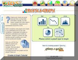Create a Graph is an online graph making tool. It allows you to create bar, line, area, pie and XY charts. There is a step by step tutorial. Once you have created your graph you are able to save and print it and share and compare the information with others. This resource links to the Australian Curriculum Digital Technologies content descriptor which suggest students represent data and information visually. http://nces.ed.gov/NCESKIDS/createagraph/default.aspx