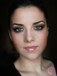 party makeup gold copper eyes tutorial