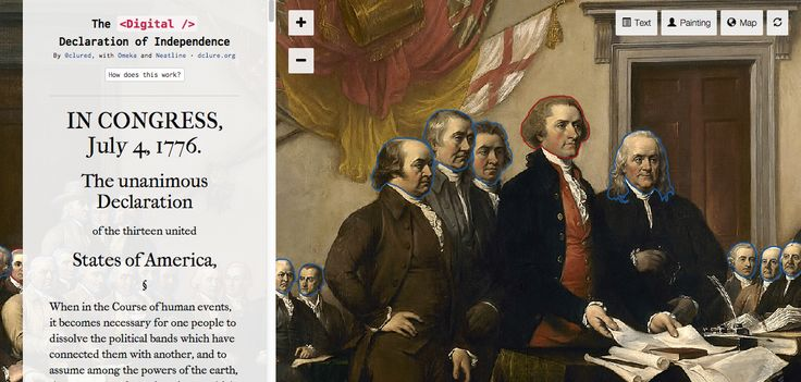 The Digital Declaration of Independence: a cool use of the Neatline mapping and timeline tool.